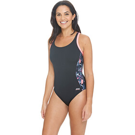 Zoggs Chaos Atomback Swimsuit Dame black/multi